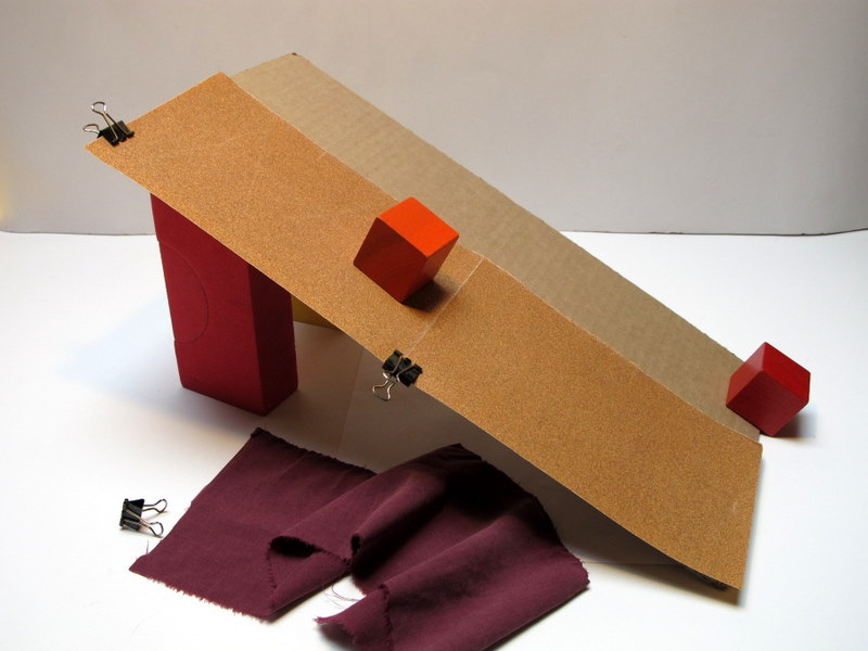 Friction: sliding blocks down ramps | ingridscience.ca
