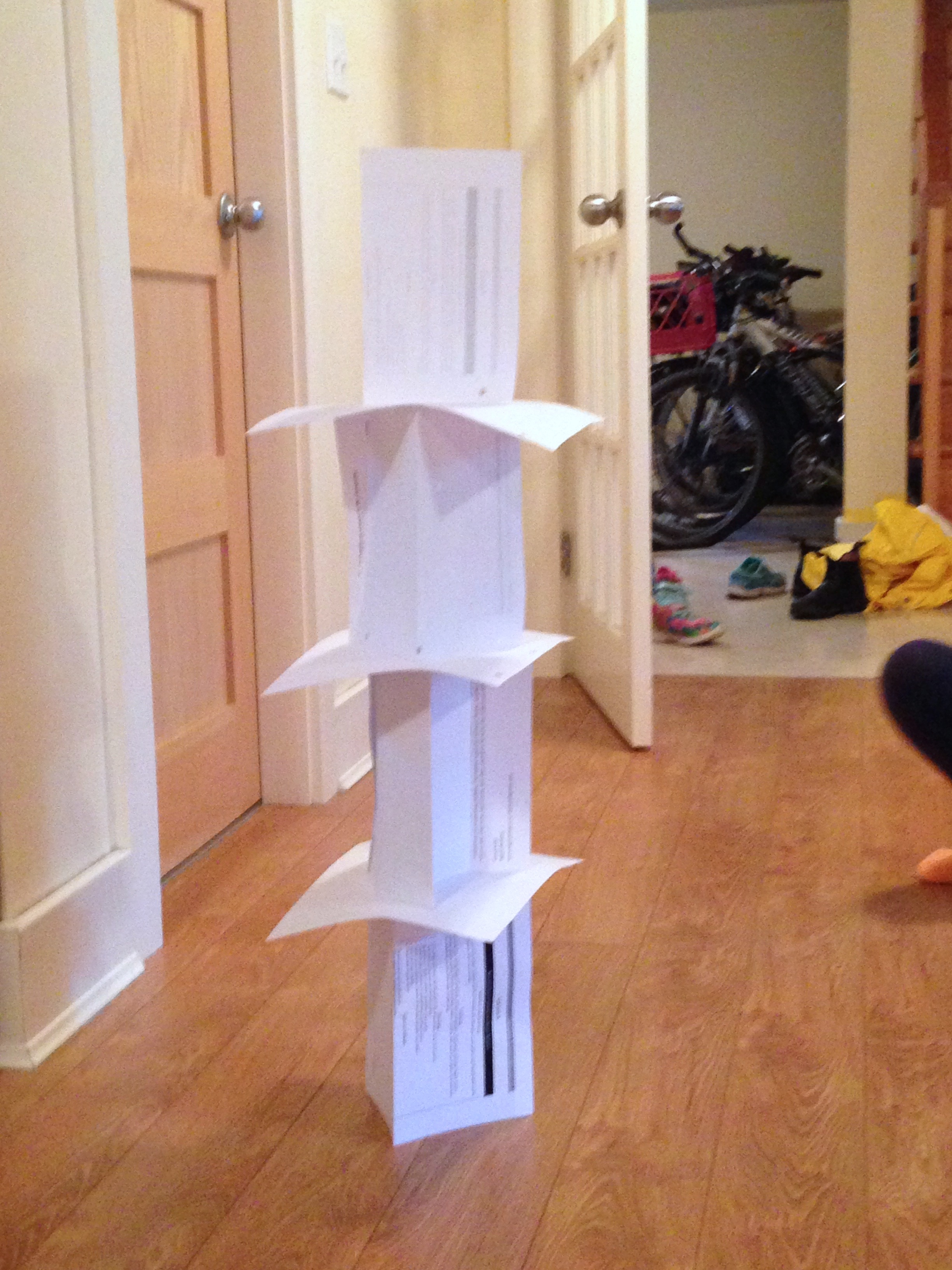Paper Tower Challenge Ingridscience Ca