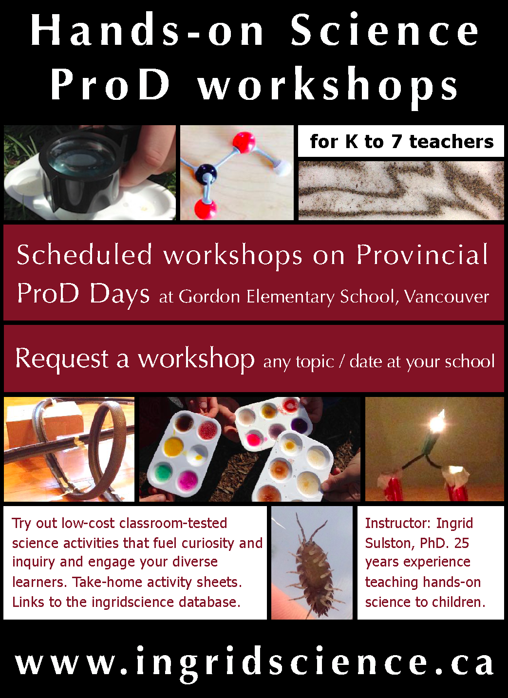 ProD workshops flyer