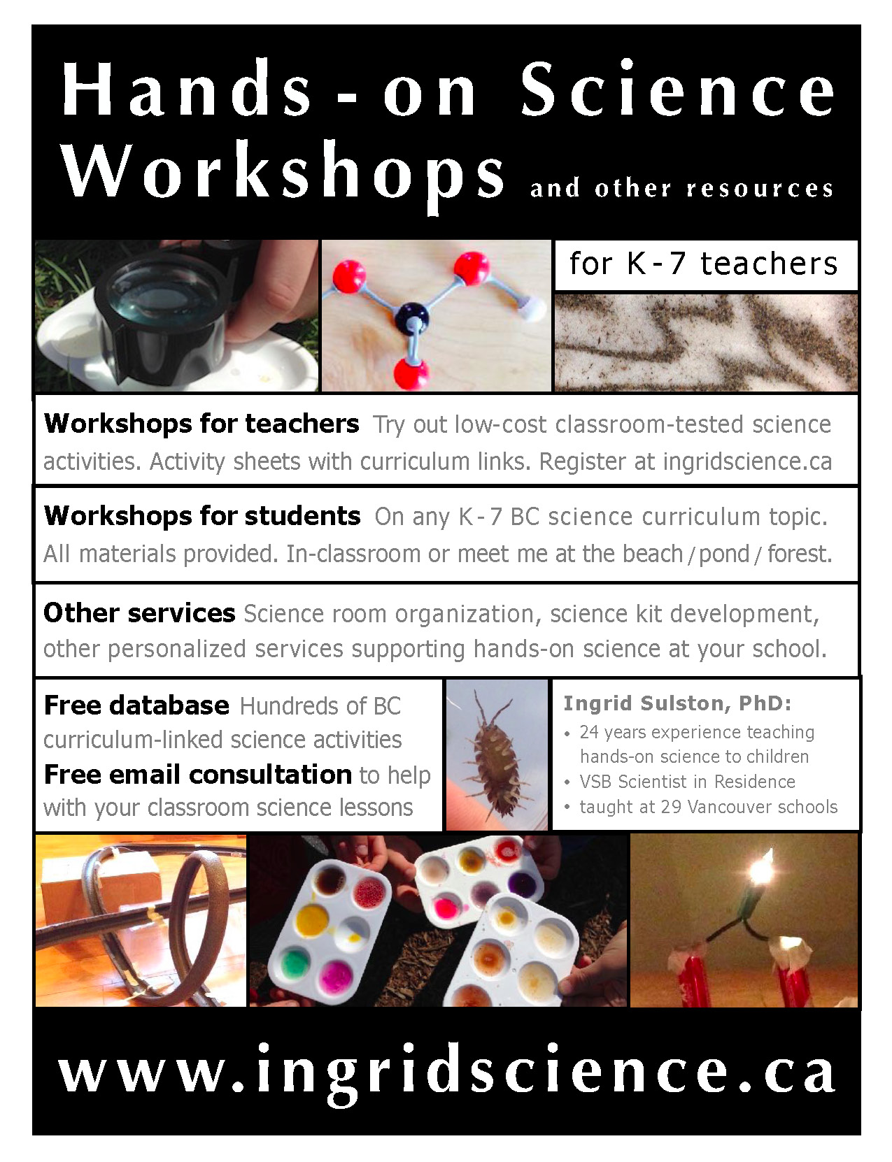workshops flyer