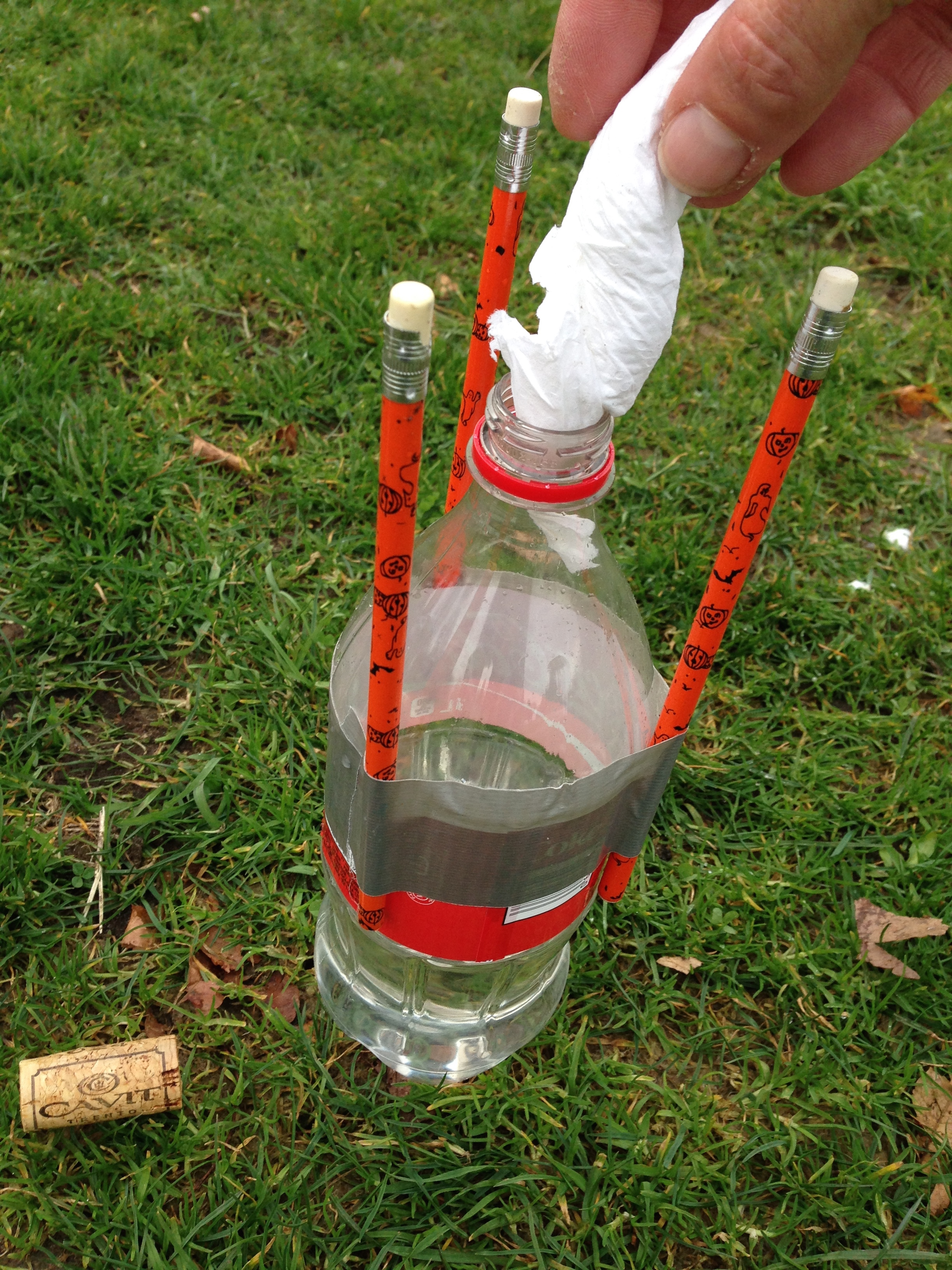 Rocket powered by baking soda and vinegar (demonstration