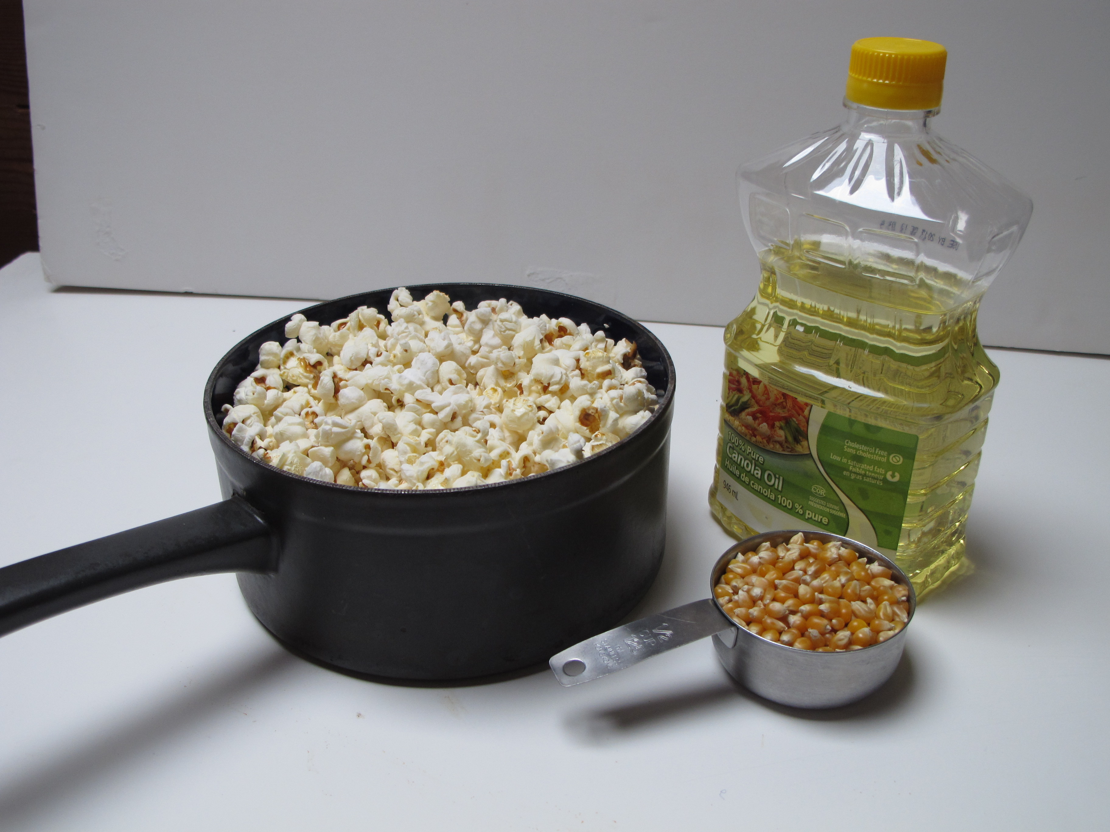 activity observation of popcorn popper